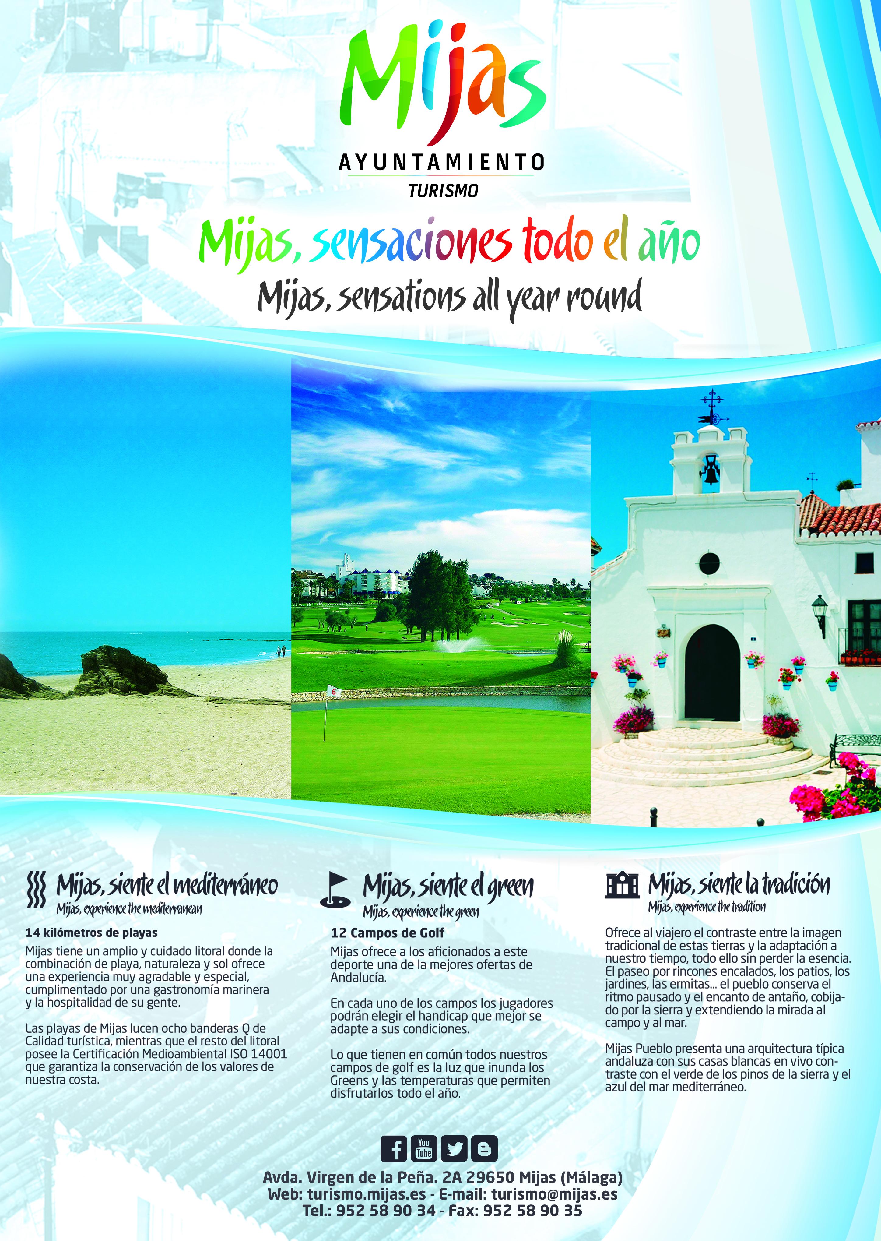 Horario planos folletos for Oficina de turismo de mijas